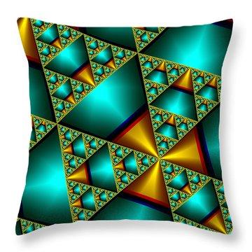 Sublime Sierpinski Fractal Throw Pillow