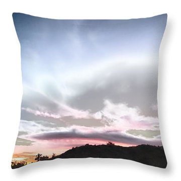 Submarine In The Sky Throw Pillow