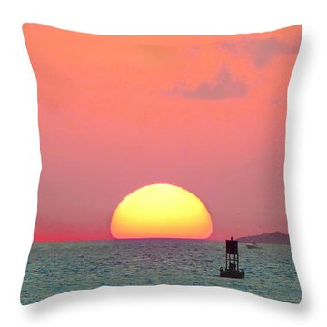 Submerge  Throw Pillow by Expressionistart studio Priscilla Batzell