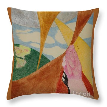 Throw Pillow featuring the drawing Subteranian  by Rod Ismay