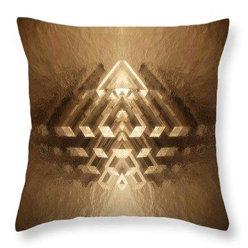 Subtle Geometrix Throw Pillow
