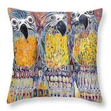 Subtle Harmony Throw Pillow