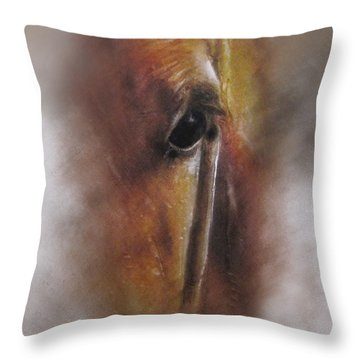 Subtle Horse Throw Pillow