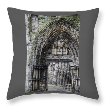 Subtle Shades Of Stone Holyrood Edinburgh Scotland Throw Pillow