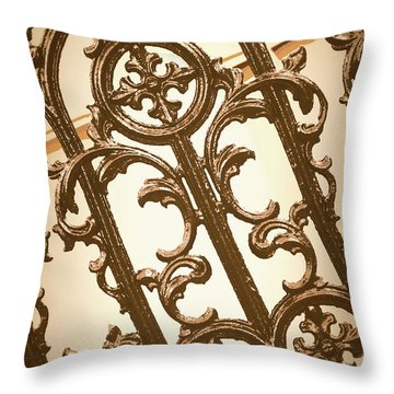 Subtle Southern Charm In Sepia Throw Pillow