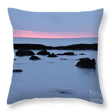 Throw Pillow featuring the photograph Subtle Sunrise by Larry Ricker