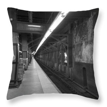 Subway At Grand Central Throw Pillow by Allen Carroll