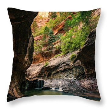 Subway Canyon Throw Pillow