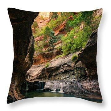 Subway Canyon Throw Pillow
