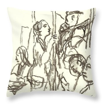 Subway Composition, Nyc Throw Pillow