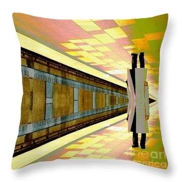 Subway Man Throw Pillow