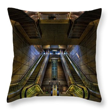 Throw Pillow featuring the photograph Subway by Stefan Nielsen