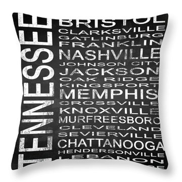Subway Tennessee State Square Throw Pillow