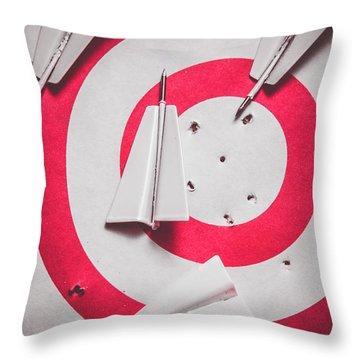 Success And Failures. Business Target Throw Pillow