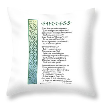 Success Throw Pillow