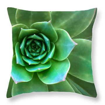 Throw Pillow featuring the photograph Succulent Closeup by Ram Vasudev