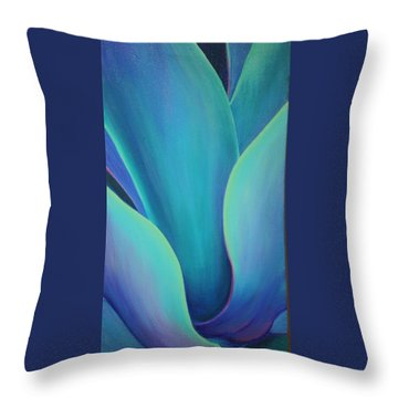 Succulent Embrace Throw Pillow