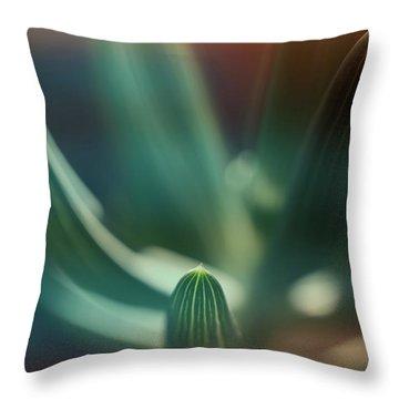 Succulent Emerging Throw Pillow