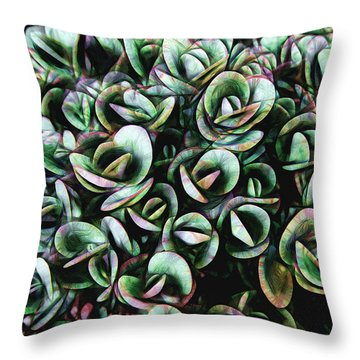 Throw Pillow featuring the photograph Succulent Fantasy by Ann Powell