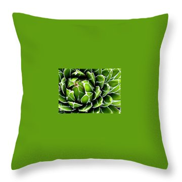 Succulent In Color Throw Pillow