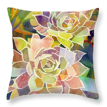 Echeveria Throw Pillows