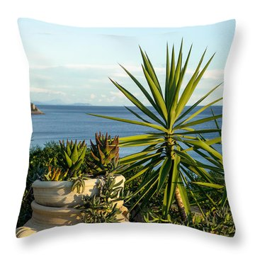 Succulents By The Sea Throw Pillow