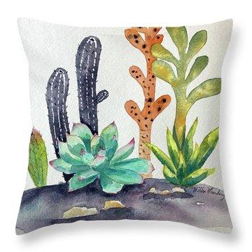 Succulents Desert Throw Pillow