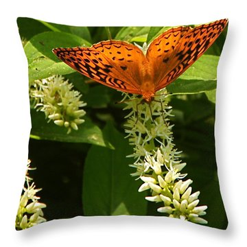 Such Lovely Wings Throw Pillow by Byron Varvarigos
