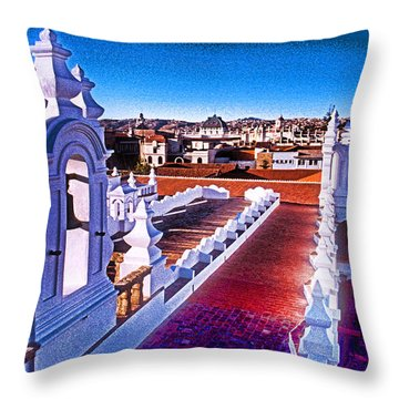 Sucre Convent Throw Pillow by Dennis Cox WorldViews