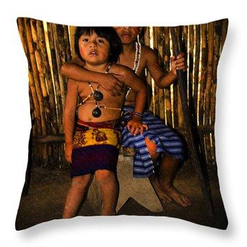 Sucua Kids 901 Throw Pillow by Al Bourassa