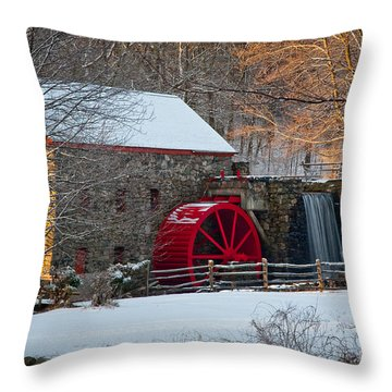 Sudbury Gristmill Throw Pillow by Susan Cole Kelly