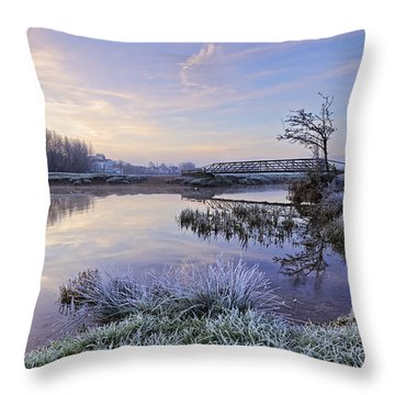 Sudbury Water Meadows Throw Pillow
