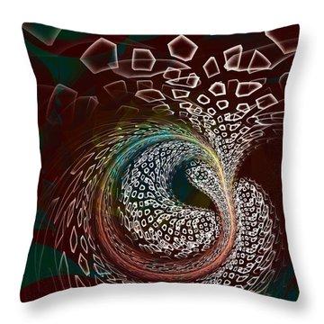 Throw Pillow featuring the digital art Sudden Outburst by Anastasiya Malakhova