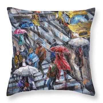 Sudden Rain II Throw Pillow