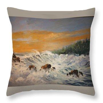 Sudden Turbulence At Suset Throw Pillow