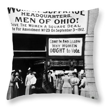 Suffrage Headquarters Throw Pillow by Granger