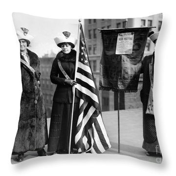 Suffragettes, C1910 Throw Pillow by Granger
