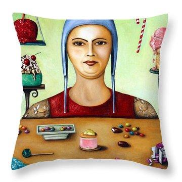 Sugar Addict Throw Pillow by Leah Saulnier The Painting Maniac