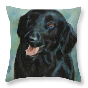 Throw Pillow featuring the pastel Sugar by Billie Colson