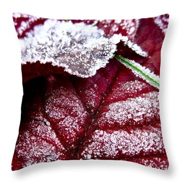 Sugar Coated Morning Throw Pillow by Gwyn Newcombe