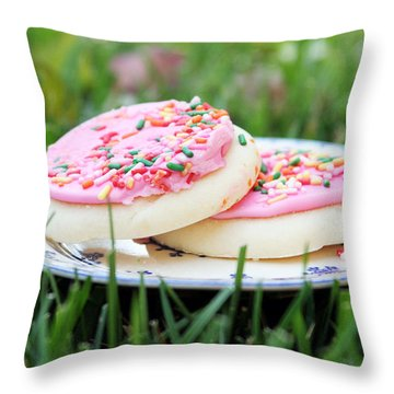 Sugar Cookies With Sprinkles Throw Pillow
