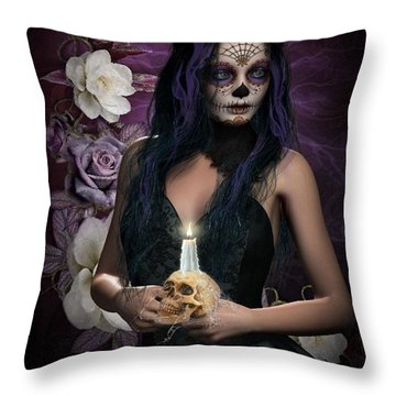 Sugar Doll Throw Pillow