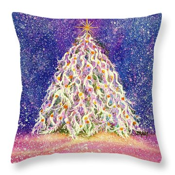 Sugar Plum Forest  - Christmas Tree Throw Pillow