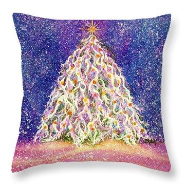 Sugar Plum Forest  - Christmas Tree Throw Pillow