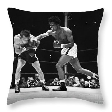 Sugar Ray Robinson Throw Pillow