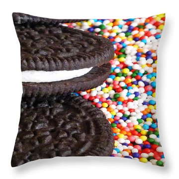 Sugar Rush Throw Pillow by Methune Hively