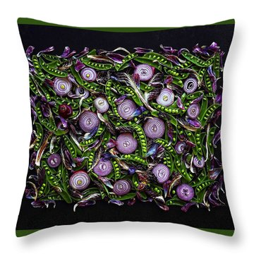 Sugar Snap Peas And Red Onion Mix Throw Pillow