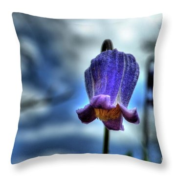Sugarbowl Leather Flower Throw Pillow
