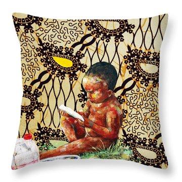 Sugarcane Challenge Throw Pillow by Ronex Ahimbisibwe