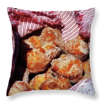 Sugared Donut Holes Throw Pillow by Susan Savad